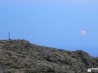 Vespertina en Perdiguera con Luna Llena; valencia senderismo rutas asturias senderismo senderismo as